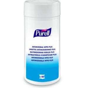 Purell antimikrobiologiske wipes i boks med 100
